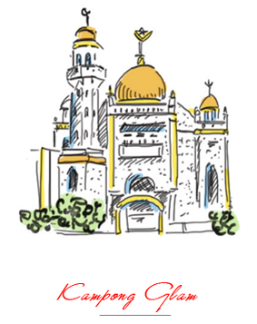 Colour illustration of Kampong Glam